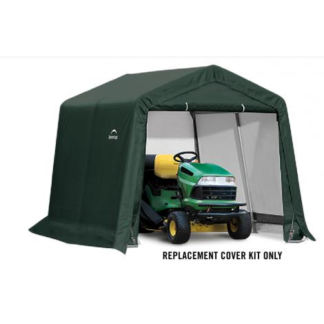 ShelterLogic Replacement Cover Kit 10x10x8 Peak 21.5oz PVC Green