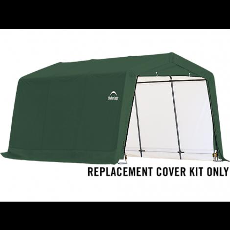 ShelterLogic Replacement Cover Kit 10x15x8 Peak 14.5oz PVC Green