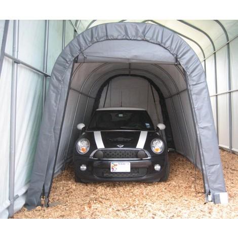 ShelterLogic 10W x 16L x 8H Round 9oz Grey Portable Garage