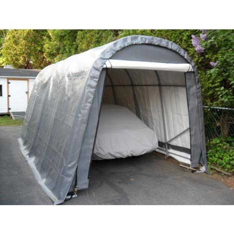 ShelterLogic 10W x 20L x 8H Round 21.5oz White Portable Garage