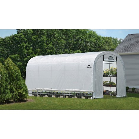 ShelterLogic 12W x 20L x 8H Round Style GrowIT Greenhouse-in-a-Box 5.5oz Translucent Greenhouse