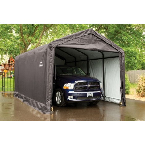 ShelterLogic 12W x 20L x 11H Sheltertube 14.5oz Green Portable Garage