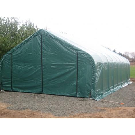 ShelterLogic 30W x 96L x 20H Peak 9oz Green Portable Garage