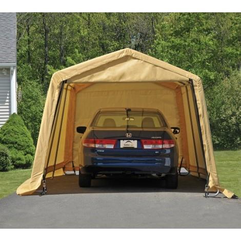 ShelterLogic 10W x 20L x 8H Peak 7.5oz Tan Portable Garage