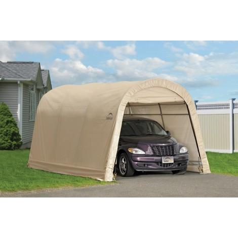 ShelterLogic 10W x 15L x 8H Round 7.5oz Tan Portable Garage