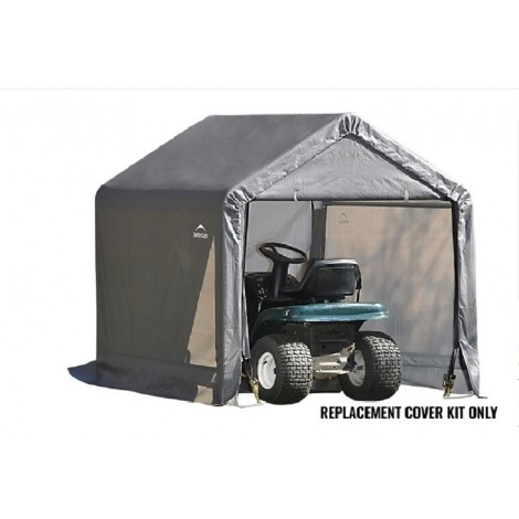 ShelterLogic Replacement Cover Kit 6x6x6.5 Peak 14.5oz PVC Grey