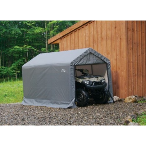 "ShelterLogic 6W x 10L x 6'6""H Peak 7.5oz Grey Portable Garage"