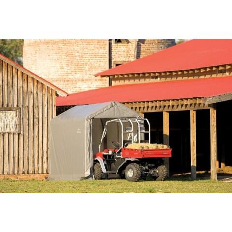 ShelterLogic 6W x 12L x 8H Peak 7.5oz Grey Portable Garage