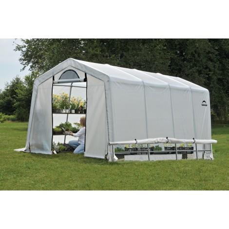 ShelterLogic 10W x 20L x 8H Peak Style GrowIT Greenhouse-in-a-Box 5.5oz Translucent Greenhouse