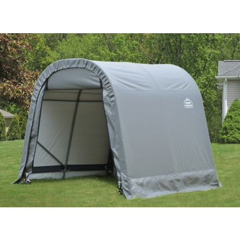 ShelterLogic 8W x 8L x 8H Round 21.5oz White Portable Garage