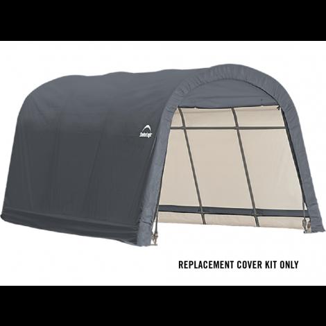 ShelterLogic Replacement Cover Kit 10x15x8 Round 14.5oz PVC Grey