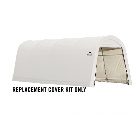 ShelterLogic Replacement Cover Kit 10x20x8 Round 21.5oz PVC White