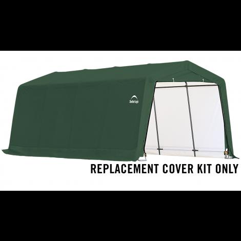 ShelterLogic Replacement Cover Kit 10x20x8 Peak 14.5oz PVC Green