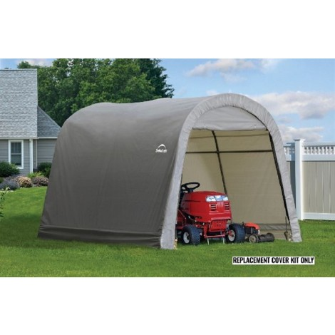 ShelterLogic Replacement Cover Kit 10x10x8 Round 14.5oz PVC Grey