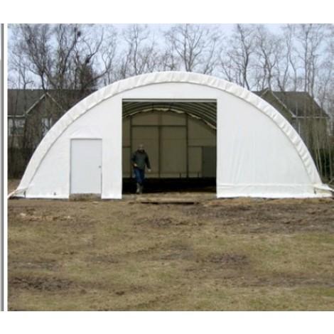 ClearSpan Storage Master SolarGuard - 30'W x 72'L  x 15'H  White