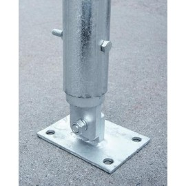 "Heavy Duty Base Plates for 1.900""/2.375"" OD Pipe"