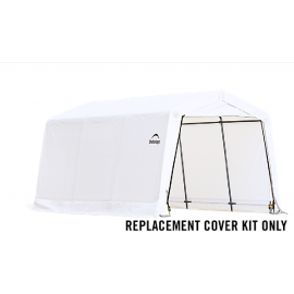 ShelterLogic Replacement Cover Kit 10x15x8 Peak 14.5oz PVC White