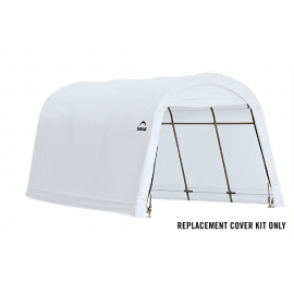 ShelterLogic Replacement Cover Kit 10x15x8 Round 14.5oz PVC White