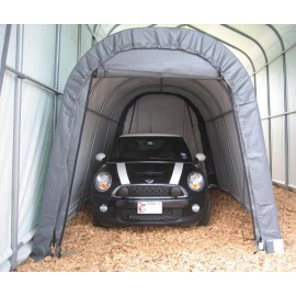 ShelterLogic 10W x 16L x 8H Round 9oz White Portable Garage