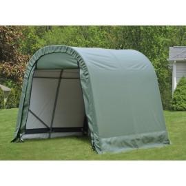 ShelterLogic 11W x 28L x 10H Round 9oz Grey Portable Garage