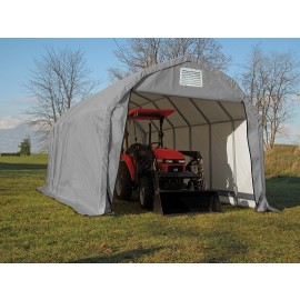ShelterLogic 12W x 20L x 11H Barn 14.5oz Grey Portable Garage