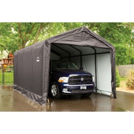 ShelterLogic 12W x 20L x 11H Sheltertube 9oz Grey Portable Garage