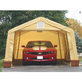 ShelterLogic 12W x 20L x 8H Peak 9oz Grey Portable Garage