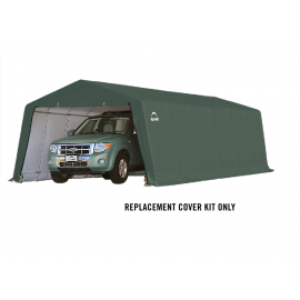 ShelterLogic Replacement Cover Kit 12x24x8 Peak 14.5oz PVC Green