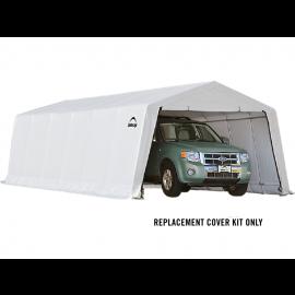 ShelterLogic Replacement Cover Kit 12x24x8 Peak 21.5oz PVC White