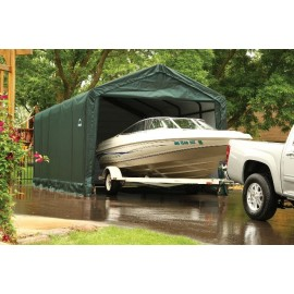 ShelterLogic 12W x 35L x 11H Sheltertube 21.5oz Green Portable Garage