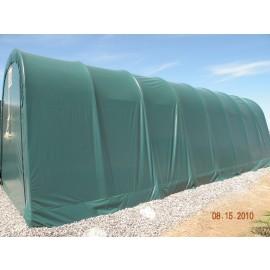 ShelterLogic 12W x 28L x 8H Round 9oz Grey Portable Garage
