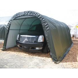 ShelterLogic 12W x 32L x 8H Round 9oz Grey Portable Garage