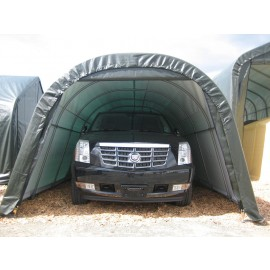ShelterLogic 12W x 20L x 8H Round 9oz Grey Portable Garage