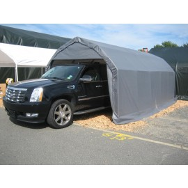 ShelterLogic 12W x 20L x 9H Barn 14.5oz Grey Portable Garage