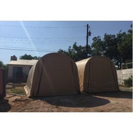 ShelterLogic 15W x 56L x 12H Round 9oz Tan Portable Garage