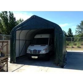 ShelterLogic 15W x 28L x 12H Peak 9oz Green Portable Garage