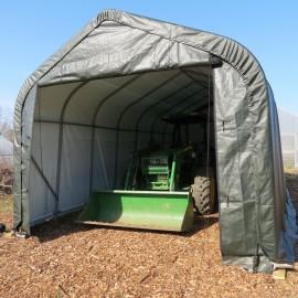 ShelterLogic 15W x 28L x 12H Peak 9oz Gray Portable Garage