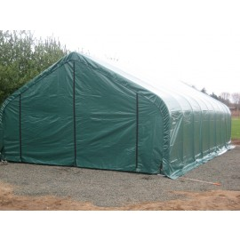 ShelterLogic 30W x 84L x 20H Peak 21.5oz Green Portable Garage