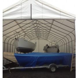 ShelterLogic 30W x 80L x 20H Peak 21.5oz White Portable Garage