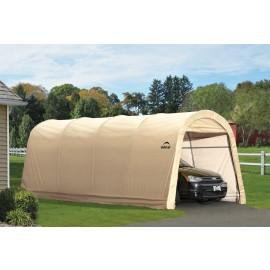 ShelterLogic 10W x 20L x 8H Round 7.5oz Tan Portable Garage