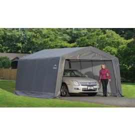 ShelterLogic 12W x 16L x 8H Peak 7.5oz Grey Portable Garage