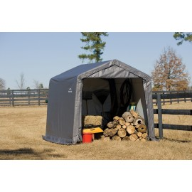 ShelterLogic 6W x 6L x 6H Peak 7.5oz Grey Portable Garage