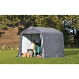 ShelterLogic 8W x 8L x 8H Peak 7.5oz Grey Portable Garage