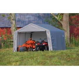 ShelterLogic 12W x 12L x 8H Peak 7.5oz Grey Portable Garage