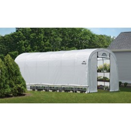 ShelterLogic 12W x 24L x 8H Round Style GrowIT Greenhouse-in-a-Box 5.5oz Translucent Greenhouse