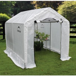"ShelterLogic 6W x 8L x 6'6""H Peak Style Organic Growers 5.5oz Translucent Greenhouse"