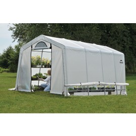 ShelterLogic 10W x 20L x 8H Peak Style GrowIT Greenhouse-in-a-Box 5.5oz Translucent Greenhouse