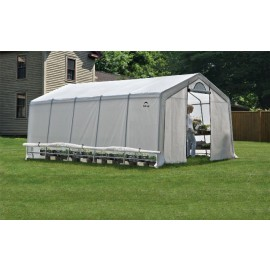 ShelterLogic 12W x 20L x 8H Peak Style GrowIT Greenhouse-in-a-Box 5.5oz Translucent Greenhouse