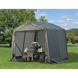 ShelterLogic 8W x 12L x 8H Peak 9oz Green Portable Garage