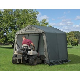 ShelterLogic 8W x 28L x 8H Peak 14.5oz Grey Portable Garage
